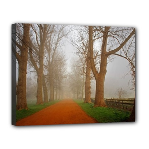 Foggy morning, Oxford 11  x 14  Framed Canvas Print by artposters
