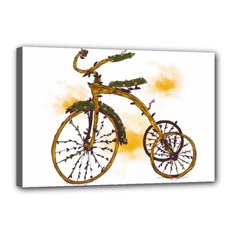 Tree Cycle Canvas 18  X 12  (framed) by Contest1753604