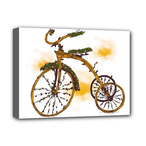 Tree Cycle Deluxe Canvas 16  X 12  (framed)  by Contest1753604