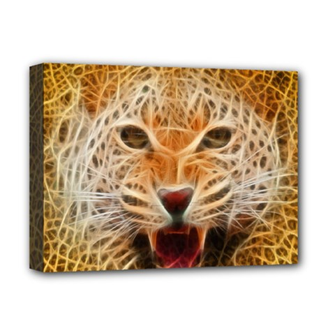 Jaguar Electricfied Deluxe Canvas 16  X 12  (framed)  by masquerades