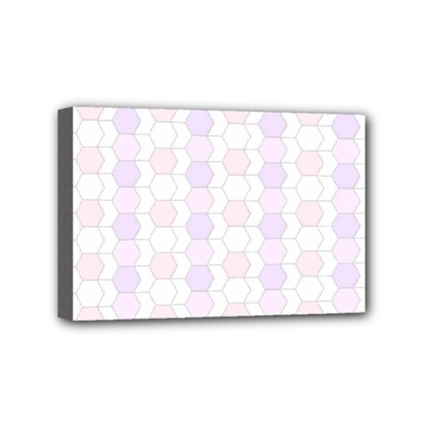 Allover Graphic Soft Pink Mini Canvas 6  X 4  (framed)