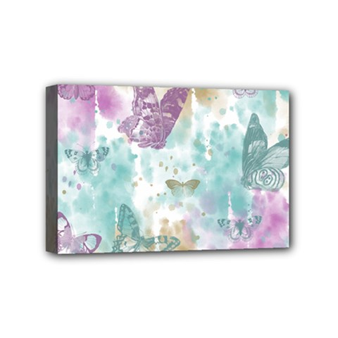 Joy Butterflies Mini Canvas 6  X 4  (framed) by zenandchic
