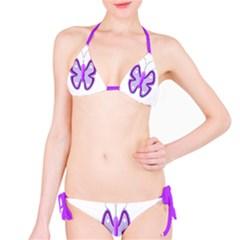 Cute Awareness Butterfly Bikini