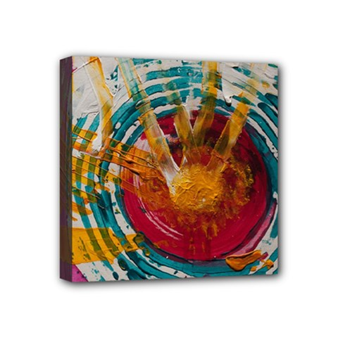 Art Therapy Mini Canvas 4  x 4  (Framed)