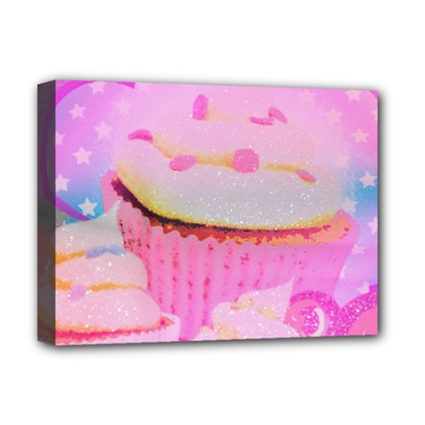 Cupcakes Covered In Sparkly Sugar Deluxe Canvas 16  X 12  (framed)  by StuffOrSomething