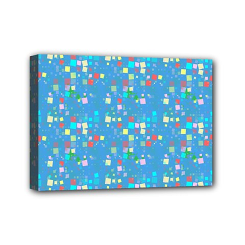 Colorful Squares Pattern Mini Canvas 7  X 5  (stretched)