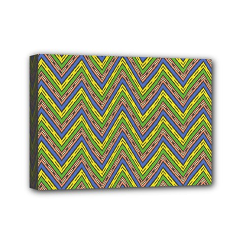 Zig Zag Pattern Mini Canvas 7  X 5  (stretched)