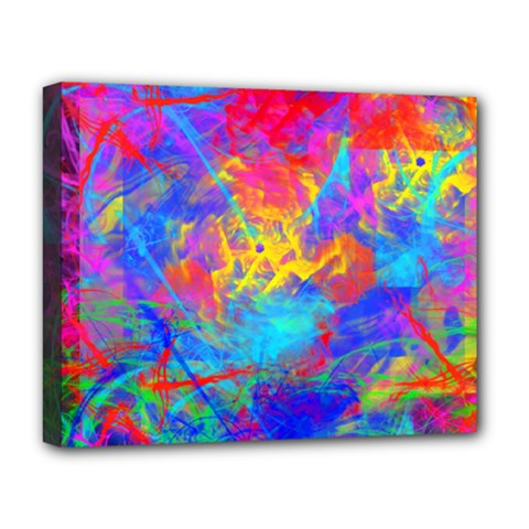 Colour Chaos  Deluxe Canvas 20  X 16  (framed) by icarusismartdesigns