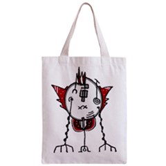 Alien Robot Hand Draw Illustration Full All Over Print Classic Tote Bag by dflcprints
