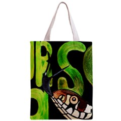 GRASS SNAKE Full All Over Print Classic Tote Bag by JUNEIPER07