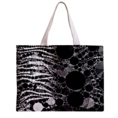 Zebra Print Bling Abstract All Over Print Tiny Tote Bag by OCDesignss