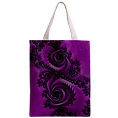 Purple Dragon Fractal  All Over Print Classic Tote Bag