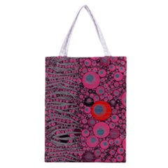 Pink Zebra Abstract All Over Print Classic Tote Bag by OCDesignss
