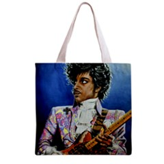 His Royal Purpleness Grocery Tote Bag by retz