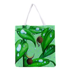 Playing In The Rain Grocery Tote Bag by retz