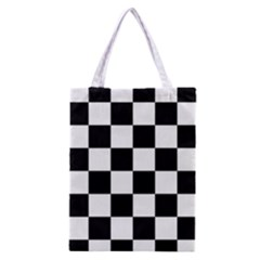 Checkered Flag Race Winner Mosaic Tile Pattern Classic Tote Bag by CrypticFragmentsColors