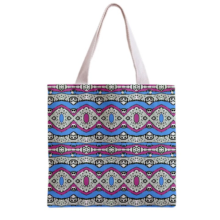 Aztec Style Pattern in Pastel Colors Grocery Tote Bag