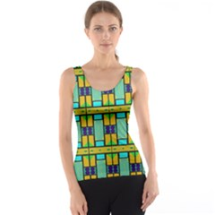 Different Shapes Pattern Tank Top