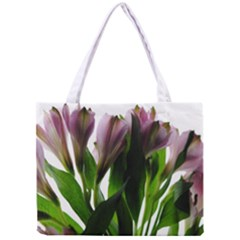 Pink Flowers On White Tiny Tote Bag