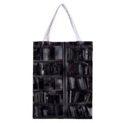 Black White Book Shelves Classic Tote Bag