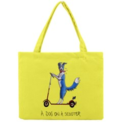 A Dog On A Scooter Tiny Tote Bag by retz