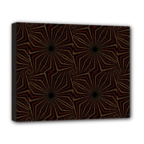 Tribal Geometric Vintage Pattern  Deluxe Canvas 20  X 16  (framed) by dflcprints