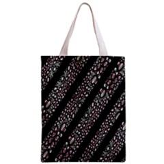 Organic Texture Stripe Pattern Classic Tote Bag