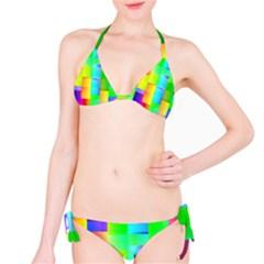 Colorful Gradient Shapes Bikini Set