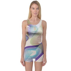 Abstract Women s Boyleg One Piece Swimsuit by infloence