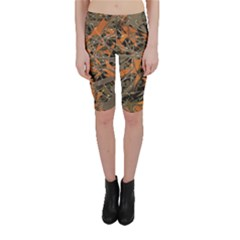 Intricate Abstract Print Cropped Leggings  by dflcprintsclothing