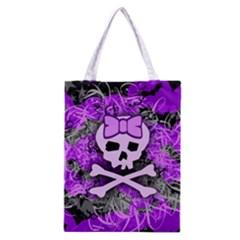 Purple Girly Skull Classic Tote Bag