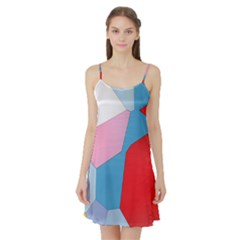Colorful Pastel Shapes Satin Night Slip by LalyLauraFLM