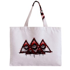 Red White Pyramids Tiny Tote Bag by teeship