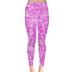 Officially Sexy Pink & White Winter Leggings by OfficiallySexy