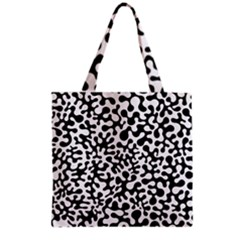 Black And White Blots Grocery Tote Bag