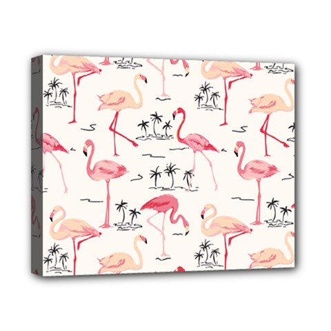 Flamingo Pattern Canvas 10  X 8  by Contest580383