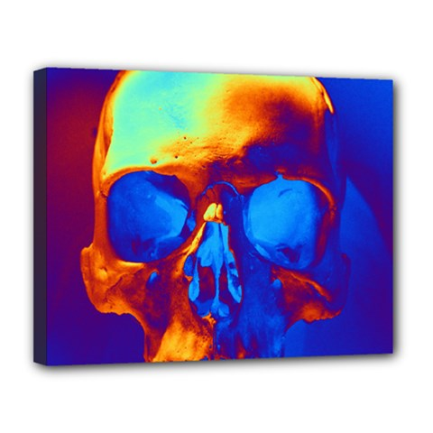 Skull Canvas 14  X 11  by icarusismartdesigns