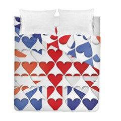 Uk Hearts Flag Duvet Cover (twin Size) by theimagezone