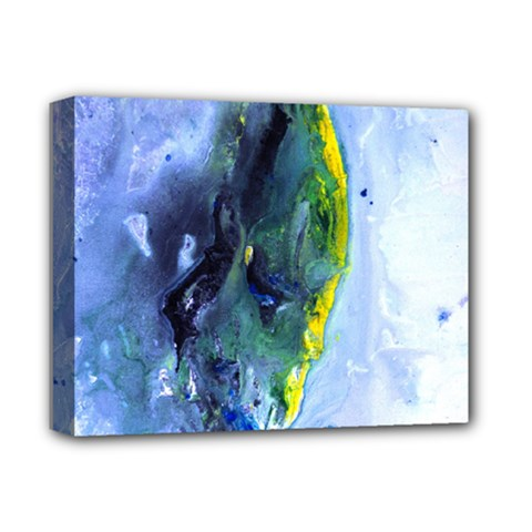 Bright Yellow And Blue Abstract Deluxe Canvas 14  X 11  by timelessartoncanvas