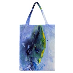 Bright Yellow And Blue Abstract Classic Tote Bags