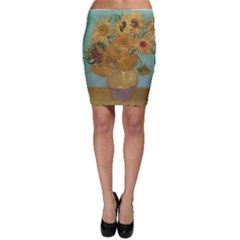 Vincent Willem Van Gogh, Dutch   Sunflowers   Google Art Project Bodycon Skirts by ArtMuseum