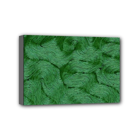 Woven Skin Green Mini Canvas 6  X 4  by InsanityExpressed