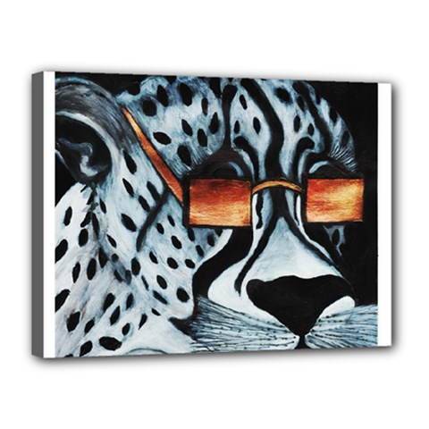 Cool Cat Canvas 16  X 12  by JUNEIPER07
