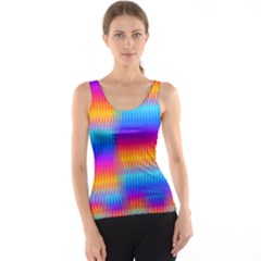 Psychedelic Rainbow Heat Waves Tank Tops by KirstenStar