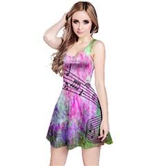 Abstract Music  Reversible Sleeveless Dresses