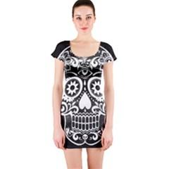 Skull Short Sleeve Bodycon Dresses