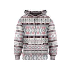 Fancy Tribal Border Pattern Soft Kids Zipper Hoodies