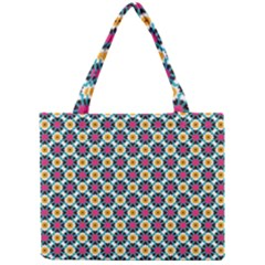 Cute Abstract Pattern Background Tiny Tote Bags