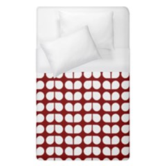 Red And White Leaf Pattern Duvet Cover Single Side (single Size) by creativemom