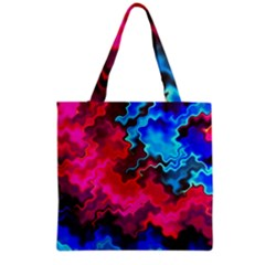 Psychedelic Storm Grocery Tote Bags